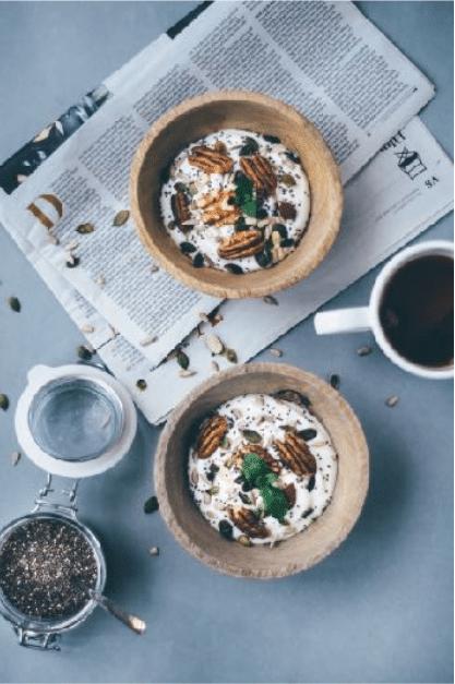 Gezond en luchtig ontbijt recept met kwark en pecannoten, Wouter van aalst Personal training, nijmegen, ontbijt recepten.